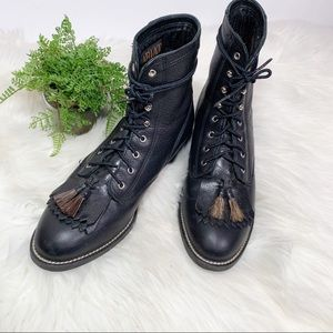 Ariat Shoes - Ariat vintage leather back tassel lace up boots